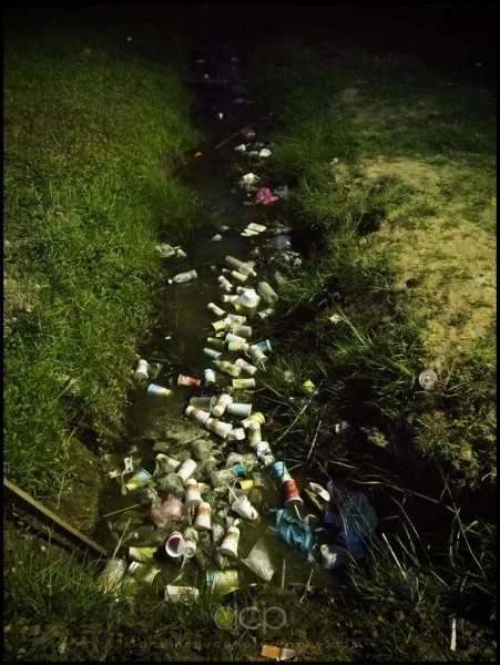 littered drain, Bintulu