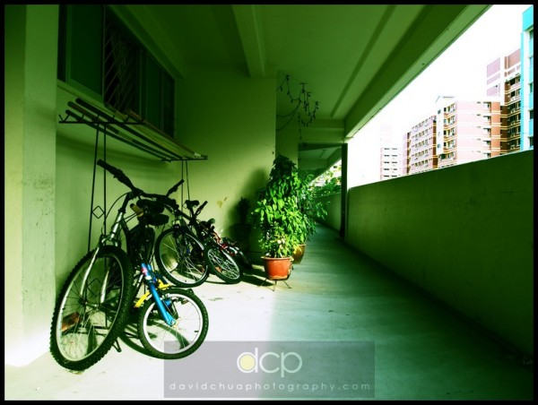 A Corridor View of a Typical HDB Flat in Singapore